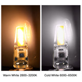 CMC, G4 LED Lamp Mini Dimmable 12V DC/AC LED G4 LEDs Bulb Chandelier Light Super Bright G4 COB Silicone Bulbs Ampoule G9