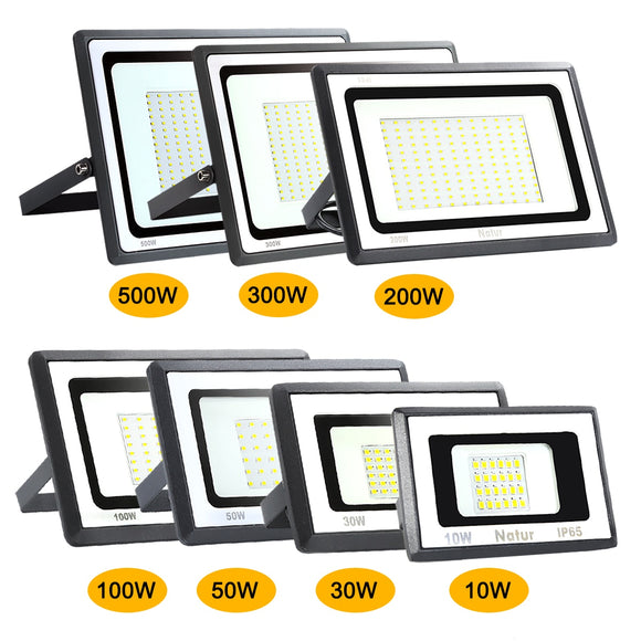 CMC, LED Floodlight 10W 30W 50W 100W 200W 300W 500W IP65 Waterproof Outdoor AC220V Spotlight Exterior Wall Light