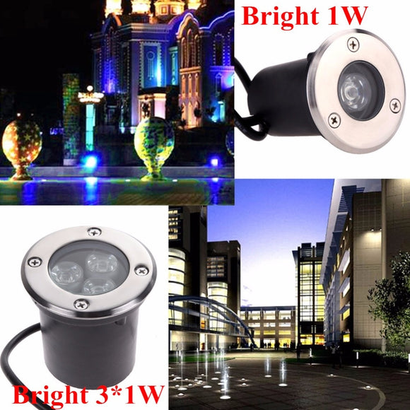 CMC, 12V 110V 220V LED Underground Light 1W 3W Recessed Lamp Waterproof Outdoor Lighting Garden Buried Yard Landscape Inground Light