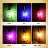 CMC, 8 Colors Vintage LED Edison Bulb E26 E27 220V Incandescent Filament Light Bulb Retro Colorful Edison Light for Home Store Decoration