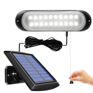 CMC, 20 led Solar Lamp Separable Solar Panel and Light With Line Waterproof Pull- Switch Lighting Available Outdoor or Indoor