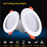 CMC, 3W 5W 7W LED Ceiling Lamp Downlights for Bathroom Stairs Balcony AC 220V with Intelligent Radar Sensor Lighting