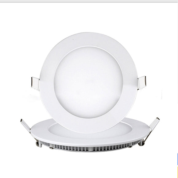 CMC, 3W 6W 9W 12W 15W 18W 24W Panel Lamp Led Ultra Thin Flat Panel Lamp Round Recessed Lamp Die-casting Tube Lamp