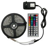 CMC, 5050 Flexible LED Strip White Warm RGB 5M 300Leds Tape Diode Feed Tiras Ribbon 12V LED Light with DC 12V Power Adapter