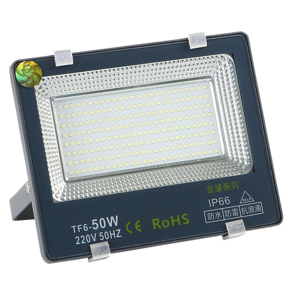 CMC, 50W LED Flood Spot Light RGB Outdoor Spotlight IP66 Waterproof AC 220V Exterior Reflector