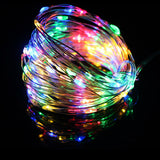 CMC, LED String Lights 10M 5M 20M Silver Wire Garland Home Christmas Wedding Party Decoration Powered By DC 12V USB Fairy Light