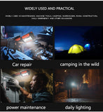 CMC, 6000LM Portable Lantern LED Work Light Hook Magnetic Flashlight USB Rechargeable Auto Repair Waterproof for Outdoor Camping