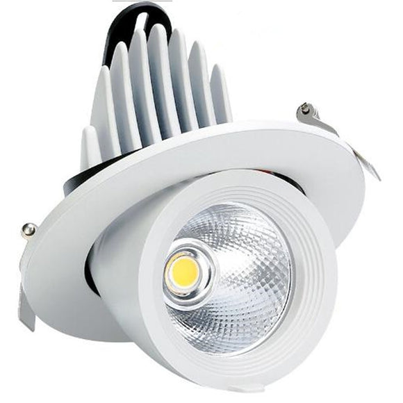 CMC, 7W 12W 20W 30W LED Downlight Ceiling Spot Light 360 AC85-260V Rotation Bedroom Kitchen Indoor Lighting with Driver