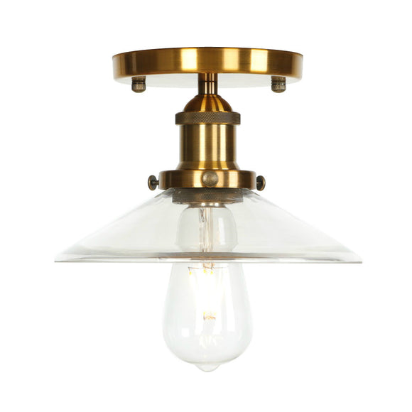 CMC, Loft Industrial Decor LED Ceiling Light Fixtures Kitchen Porch Living Room Lights Glass Vintage Ceiling Lighting Edison
