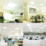 CMC, 8 sets Light Cover for LED Ceiling Lights 48W Panel Techo Panel Light 595*595 Ultra Thin Panel Controller Down Light