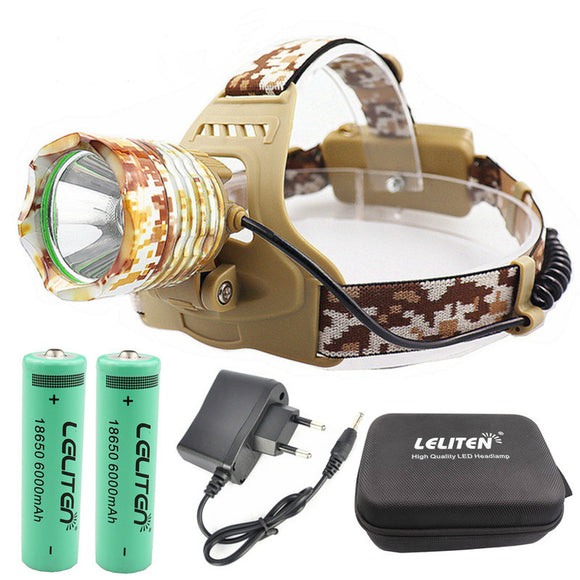 CMC, Tactical Flashlight Headlamp XML-T6 LED Headlamp Fishing Headlight Hunting Head Light Camping Lantern