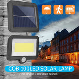 CMC, COB 56/98/100/108/120 LED Solar Lamp Motion Sensor Waterproof Outdoor Path Night Lighting with Remote Control