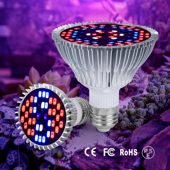 CMC, E26 E27 Growing Light E14 Phyto LED Indoor Hydroponics Light 30W 50W 80W Fitolamp LED Grow Bulb 18W 28W Full Spectrum LED Plant Lamp