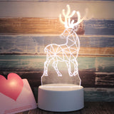 CMC, 3D LED Lamp USB Night Lights Romantic Novelty Illusion Night Lamp Acrylic Table Lamp for Home Creative Decorative Light