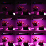 CMC, Dimmable 18W Dual Head Led Plant Grow Light with Desk Holder Clip with Timer 3 Modes Full Spectrum LED Aquarium Lighting