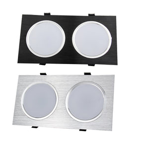CMC, Energy Saving Recessed Double LED Dimmable Downlight SMD 6W 10W 18W 24W LED Spot Light Decoration Ceiling Lamp AC 110V 220V
