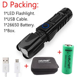 CMC, High Quality Powerful Tactical Zoom Flashlight XHP90 LED Torch Zooming Flashlight Torch
