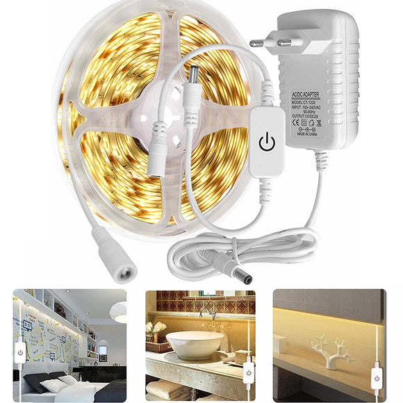 CMC, Kitchen LED Light 12V LED Under Cabinet Light 2835 LED Strip Touch Switch Night Lamp for Stair Wardrobe Home Lighting Waterproof