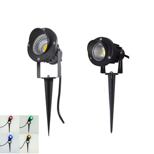 CMC, LED COB Garden Lighting 3W 5W 12W Outdoor Spike Lawn Lamp Waterproof Lighting Path Spotlights AC 220V DC 12V
