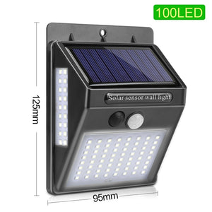 CMC, LED Night Light with Motion Sensor Nightlight Solar Battery Powered Lamp Waterproof Wall Light for Garden Decoration