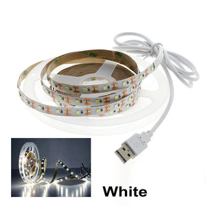 CMC, LED Strip Light 2835 SMD DC 5V RGB USB Tape Flexible Neon Ribbon 1M 2M 3M 4M 5M for TV Backlight PC Screen Background Lighting