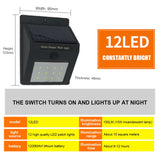 CMC, LED Solar Street Light 20 LED PIR Motion Sensor Wall Lamp Home Outdoor Waterproof Wall Light Lampadaire Solaire