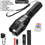 CMC, LED Flashlight Ultra Bright Torch T6 L2 V6 Camping Light 5 Switch Modes Zoomable Bicycle Light Use 18650 Battery