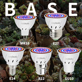 CMC, MR16 Growing LED Plant Lamp for Indoor Grow Light E26 E27 Full Spectrum LED Greenhouse Bulb E14 Phyto Lamp 220V GU10 48 60 80led B22