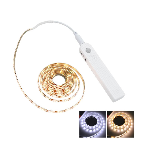 CMC, Rechargeable USB 1M 2M 3M Motion Sensor LED Night light Bed Cabinet Stairs light LED Strip For TV Backlight lighting