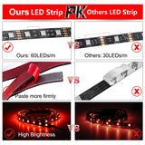 CMC, USB LED Strip Light 5050 RGB Changeable Diode Tape 5V 50CM 1M 2M 3M 4M 5M DIY Flexible RGB LED Ribbon for PC Screen TV Backlight