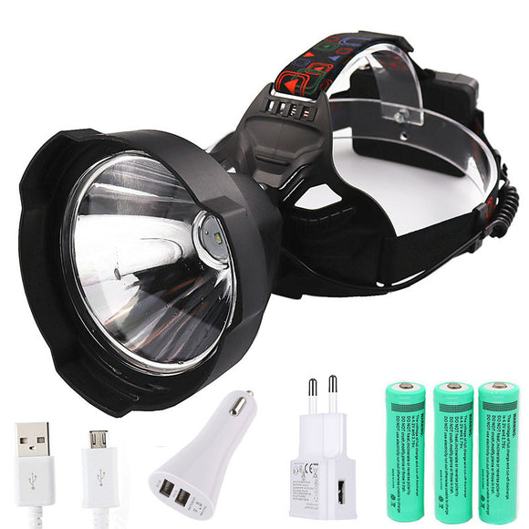 CMC, Portable USB Charging LED Headlamp Super Bright Fishing Headlight Flashlight Torch