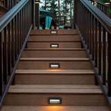 CMC, LED Wall Lamp 3W 6W LED Stair Light Step Light Recessed Buried Lamp Indoor Outdoor Waterproof Staircase Lights White Black Gray
