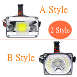 CMC, COB 33 LED Mini Portable LED Headlamp 4 Mode Outdoor Camping Headlight  Flashlight USB Cable