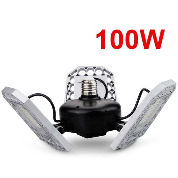 CMC, 100W 80W 60W E27 LED Lamp 110V 220V LED Bulb Deformable High Power Smart Light for Warehouse Factory Garage Basement Gym