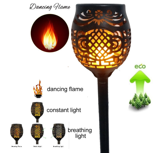 CMC, Solar 96LED Lawn Dancing Flame Torch Lights Radar 3 Working Mode 2/4PCS Lights 2835 Torch Landscape Garden