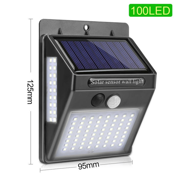 CMC 100 LED Solar Light Outdoor Solar Garden Lamp PIR Motion Sensor Solar Powered Sunlight Waterproof for Street Decoration