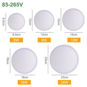 CMC, LED Panel Lamp 36W 24W 18W 13W 9W 6W LED Ceiling Light AC 85-265V Modern Down Light Surface Mounted Lamp Home Light