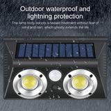 CMC, LED Solar Light Outdoor Solar Lamp PIR Motion Sensor Wall Lamps IP65 Waterproof Solar Sunlight Powered Garden Street Light