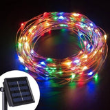 CMC, 100/200 LED Solar Copper Wire String Lamp Led Strip Fairy Garland Outdoor Garden Decorative Light Wedding Christmas Decoration