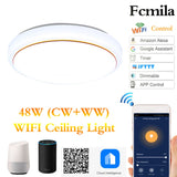 CMC, 48W AC85-265V Smart LED Ceiling Light Lamps Bedroom Living Room Work With Alexa Echo Google Home