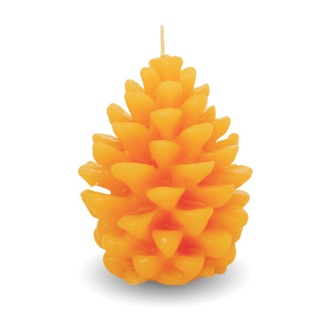 100% Beeswax Candle ALL Natural Air Purifier vs Allergies and Airborne Contaminants | 2.7 oz Pine Cone