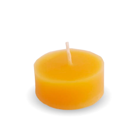 Beeswax candle floating votive honey blossom