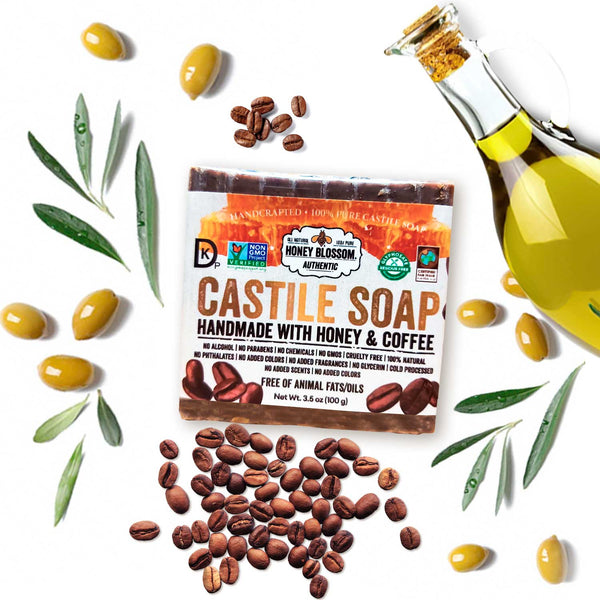 Castile Soap with Honey & Coffee Honey Blossom