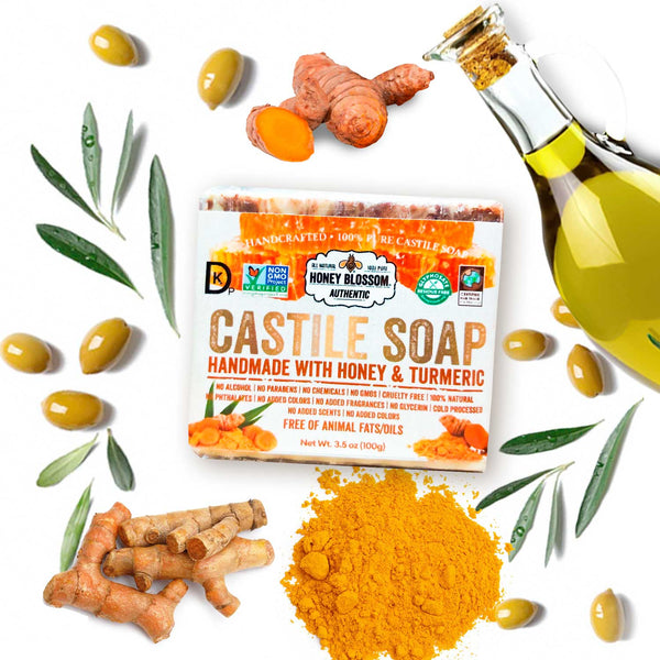 Castile Soap with Honey & Turmeric Honey Blossom