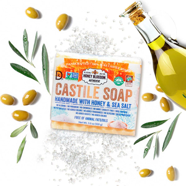 Castile Soap with Honey & Sea Salt Honey Blossom