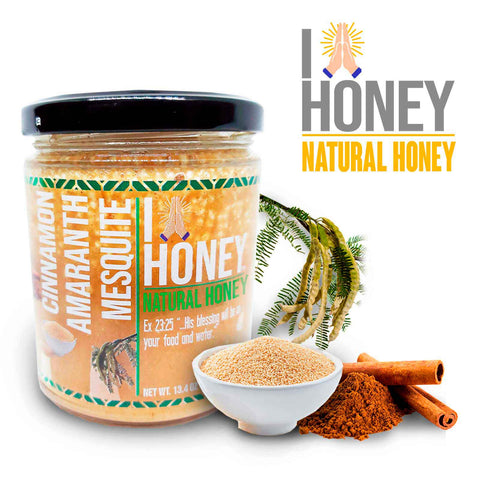 Cinnamon Infused Mesquite Honey HIGH PROTEIN ALL Natural Health Immunity Booster