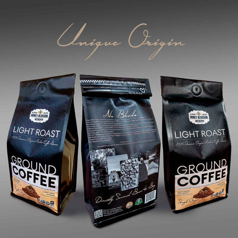 100% Arabica Bean GOURMET Ground Coffee / Light Roast