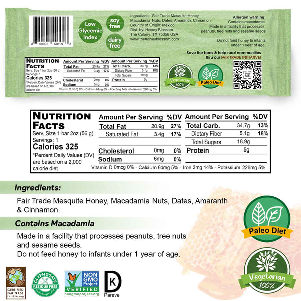 Mesquite Honey High Protein Snack Bar 6-Pack | ALL Natural Health Immunity Booster