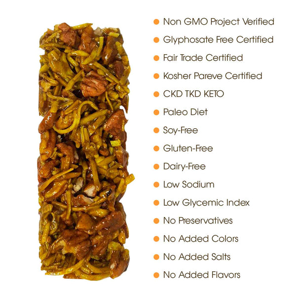 Orange Blossom Honey High Protein Snack Bar 6-Pack |  ALL Natural Health Immunity Booster