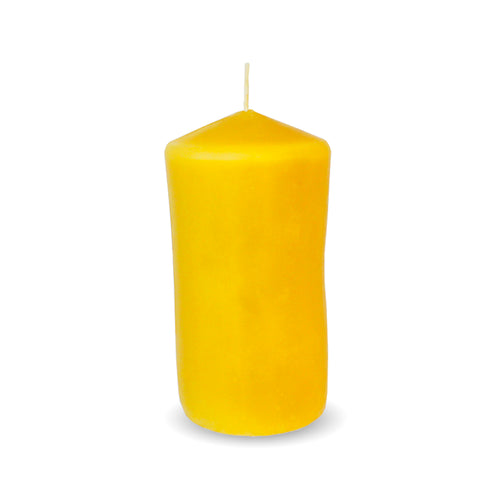 100% Beeswax Candle ALL Natural Air Purifier vs Allergies and Airborne Contaminants | 12 oz Small Cylinder